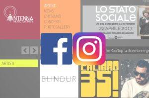 inserimento contenuti e post sui social network